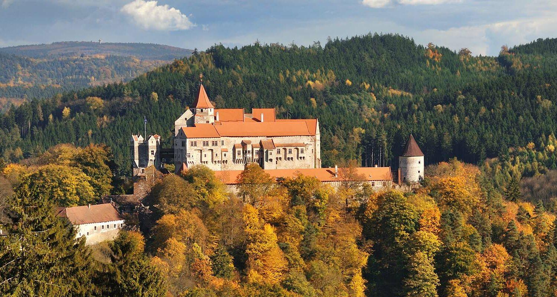 Die versteckten Gärten der Burg Pernštejn werden zu einem unvergesslichen Erlebnis.