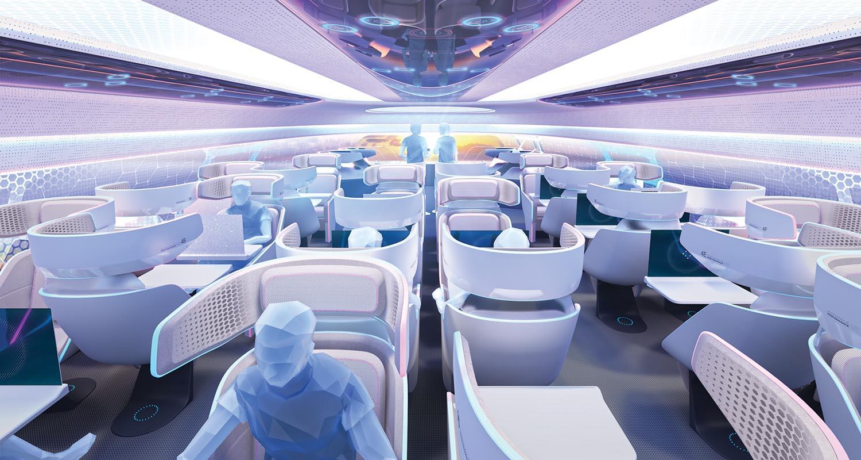 Das sind die Flugzeugkabinen der Zukunft