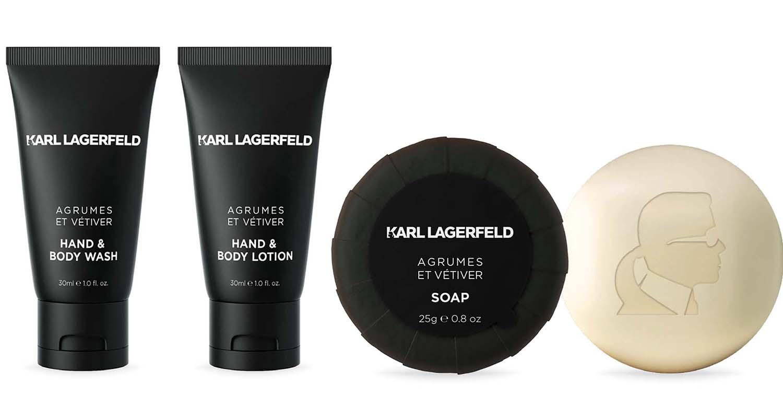 Karl Lagerfeld stattet Luxushotels mit Pflegeprodukten aus